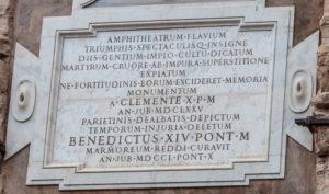 Kolezyum arena kitabesi, Roma