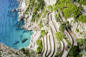 Krupp road, Capri island, Naples Italy