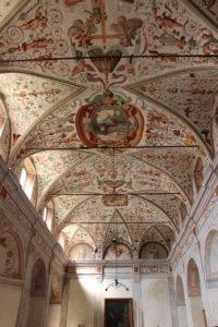 Inside Certosa di Pavia monastery, Pavia