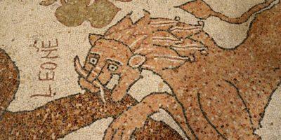 Otranto Italya Pouilles Mozaik Basilica Aslan