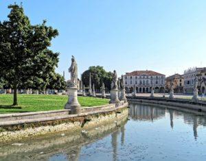 Padova Italya Gardini Heykelleri Papa Nehir Padova