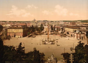 Panorama from the Pincian, Rome, Italy