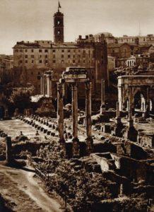 Forum romanum, Rome Italy 1925