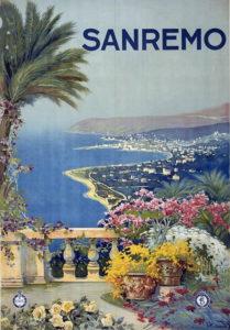 sanremo Italy poster 1920 torism vintage