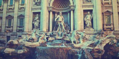 Trevi ceşmesi Rome Italya Fontana Di Trevi
