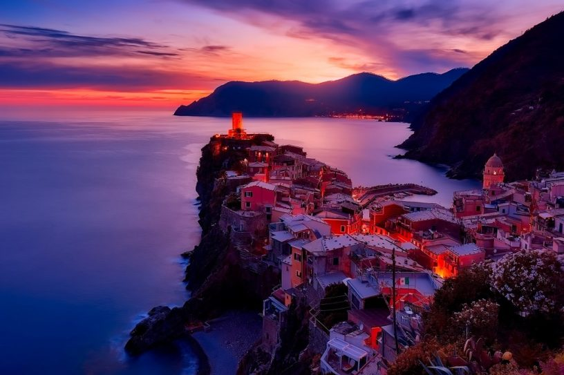 Vernazza Italy sunset cinque terre