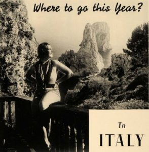 Where to go this year? To Italy. Esquire magazine ad, 1936