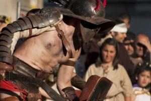 Gladiator street performance, Rome Italy