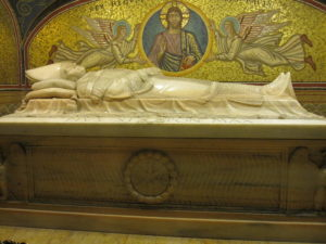 grave of the Pope Saint John Paul II (Ioannes Paulus II), Vatican St Peters basilica Rome