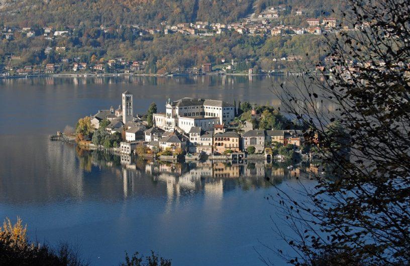Orta San Giulio lake novara Italy