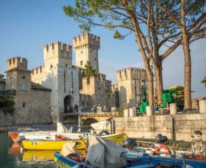sirmione Scaliger Castle Lake Garda Italya