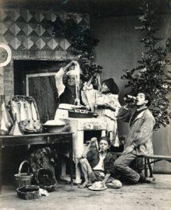 Mangiatori di spaghetti, Napoli, G. Sommer, 1886