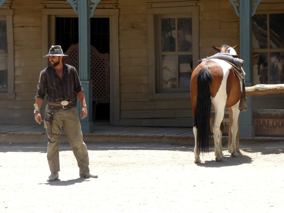 a scene from western movie