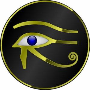 horus eye, eye of the sky
