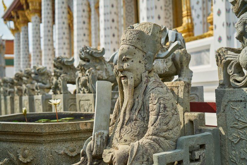 Southeast Asia temple mythology statues