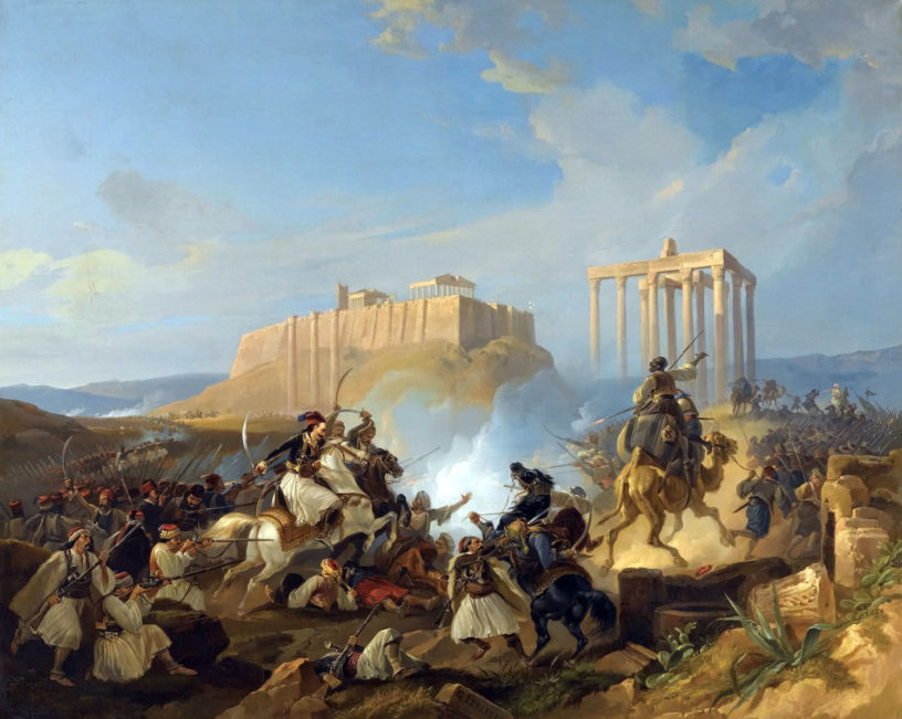 Battle of the Greek War of Independence by Georg Perlberg