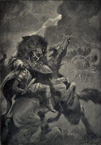 Odin and Fenris