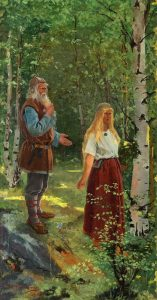 igfrid August Keinänen (1841-1914), Väinämöinen and Aino (1896), oil on canvas