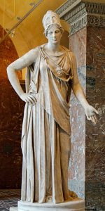 """Mattei Athena"". Marble, Roman copy from the 1st century BC/AD after a Greek original of the 4th century BC, attributed to Cephisodotos or Euphranor. Related to the bronze Piraeus Athena"