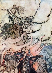 Siegfried and the Twilight of the Gods. Siegfried leaves Brünnhilde in search of adventure.