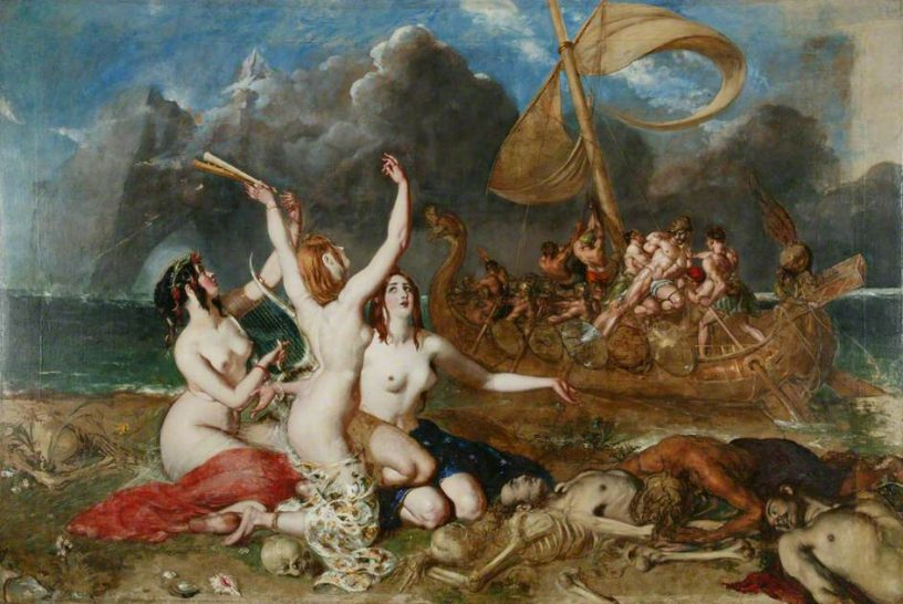 The Sirens of Ulysses (William Etty 1837). (c) Manchester City Galleries; Supplied by The Public Catalogue Foundation