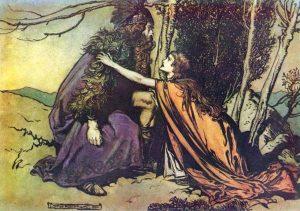 Wotan and Brünnhilde discuss the fate of Siegmund
